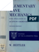 Elementary Wave Mechanics - Heitler
