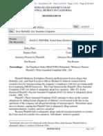 Judge Fischer Dismisses HLF securities litigation
