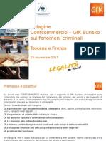 Toscana e Firenze - Indagine Confcommercio GFK Eurisko Sui Fenomeni Criminali 2015
