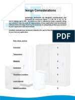 Enclosures design consideration