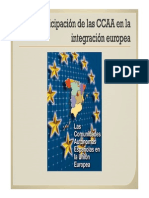 La Participación de Las CCAA en La UE
