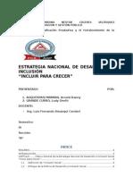 """Estrategia de Desarrollo Nacional """"INCLUIR PARA CRECER"""""""