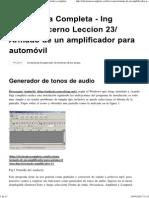 Armado de Un Amplificador Para Automóvil » Electrónica Completa