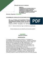 Projeto de Lei n 1044-2015