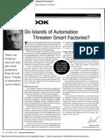Do Islands of Automation Threaten Smart Factories