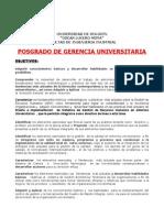 Postgrado de Gerencia Universitaria