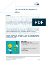 Overview of EU Funds for Research and Innovation
