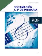 PROGRAMACIÓN SOBRE MÚSICA DE 3ª DE PRIMARIA