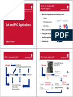Applying for PhDs and Jobs Presentation