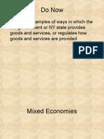 16. Economics Systems - Mixed Economy