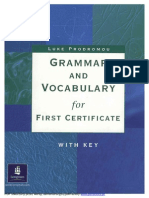 Grammar and Vocabulary for First Certificate With Key