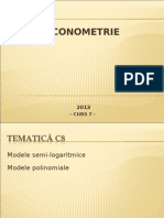 2013 Econometrie C08 Regr Neliniara 2013