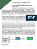 Análisis de la política de Educación Superior en Colombia