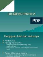 DISMENORRHEA