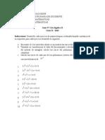 Guía II, Algebra II