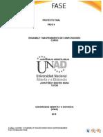 Proyecto Final Ensamble y Mantenimiento de Comptadores - UNAD
