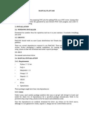 Manual_FLATCAM docx | Command Line Interface | Cartesian Coordinate