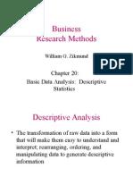 Ch20 Descriptive Analysis