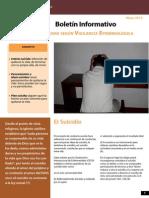 Boletín Informativo El Suicidio