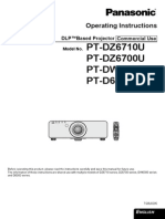 PANASONIC PT-DZ6710 MANUAL