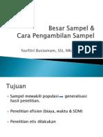 Besar Sampel & Cara Pengambilan Sampel