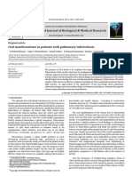 Oral Manifestations in Patients With Pulmonary Tuberculosis
