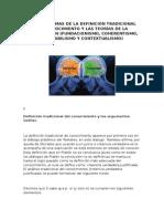 Los Problemas de La Definición Tradicional Del Conocimiento y Las Teorías de La Justificación. Jorge Alejandro Espinoza