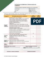 Ficha de Controle de Entrega e Convalidação