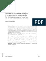 Josemaría Escrivá de Balaguer  y el Instituto de Periodismo  de la Universidad de Navarra08-07