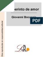 Giovanni Bocaccio - Laberinto de Amor