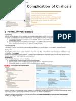 Major Complication of Cirrhosis