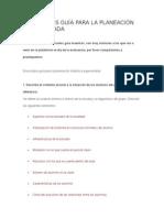 10 Enunciados Guía Para La Planeación Argumentada