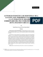 ACTIVIDAD ENZIMÁTICA DE ISOENZIMAS
