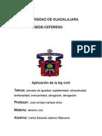 Aplicacion de La Ley Civil