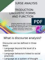 Discourse Analyses INTRO