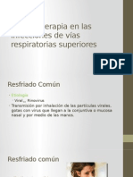 Farmacoterapia en Las Infecciones de Vías Respiratorias Superiores I