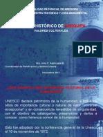 Valores Culturales Del Centro Histórico de Arequipa