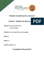 Modelos de Optimización y Recursos Unidad 4