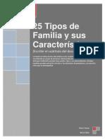 25 Tipos de Familias