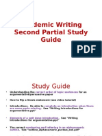 academic writing second partial study guide