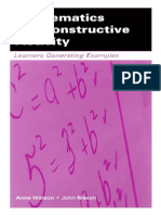 Anne Watson, John H. Mason,-Mathematics As A Constructive Activity_ Learners  Generating Examples (Studies in Mathematical Thinking and Learning Series) (2005).pdf