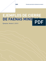 Guia Para Cierre de Faenas Mineras Folleto de Ejemplos