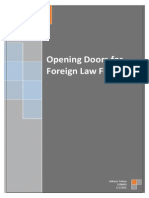 Opening Doors for Foreign Law Firm