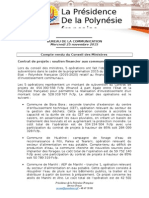 BIS Compte Rendu Du Conseil Des Ministres - Mercredi 25 Novembre 2015