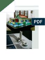 foto de una maqueta de vivienda