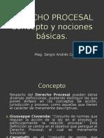Concepto Derecho Procesal y Nociones Generales