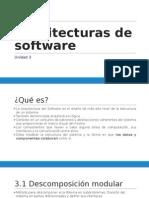 (SCD-1011) UNIDAD 3 - Arquitecturas de Software