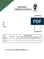 Kartu Kendali Rekban 2015
