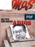 Fujimori. Se fue sin decir adiós