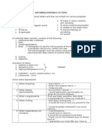 Guidelines to an informal letter